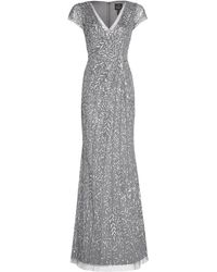 Adrianna Papell - Beaded Mermaid Gown - Lyst