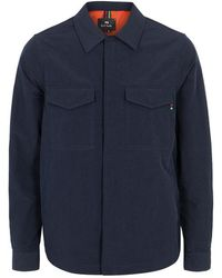 PS by Paul Smith - Navy Shell Overshirt - Lyst