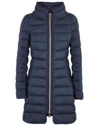Herno | Navy Quilted Shell Jacket | Lyst