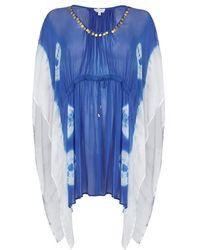 Ghost - Milly Kaftan Dazzling Blue - Lyst
