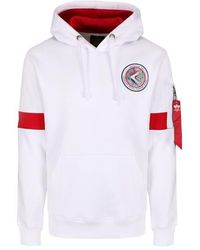 Alpha Industries - Apollo 15 Hoody White - Lyst