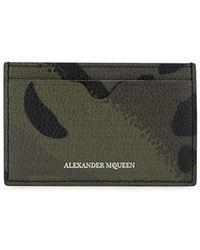 Alexander McQueen - Dancing Skeleton Leather Card Holder - Lyst