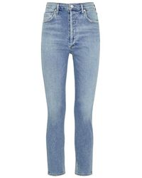 Agolde - Nico Light Blue Slim-leg Jeans - Lyst
