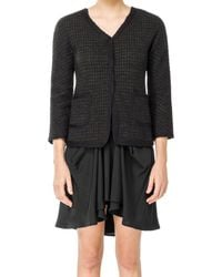 Max Studio - Boucle Checked Wool Jacket - Lyst
