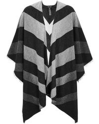 Eileen Fisher - Striped Wool Blend Poncho - Lyst