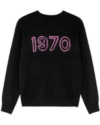 Bella Freud 1970 Black Wool-blend Sweater