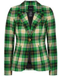 Smythe Plaid Seersucker Blazer - Green