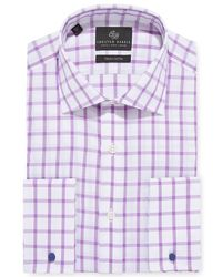 Chester Barrie - Windowpane Check Shirt - Lyst