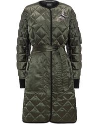 Markus Lupfer Khaki Quilted Single Breasted Liberty Coat - Multicolour