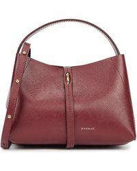Wandler Ava Micro Burgundy Leather Top Handle Bag - Purple