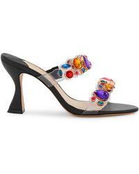 Sophia Webster Ritzy 85 Crystal-embellished Mules - Multicolor