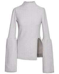 Jamie Wei Huang - Lily Gather Top Grey - Lyst