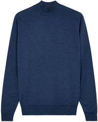 John Smedley Harcourt Blue Wool Sweater
