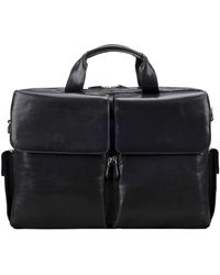 Maxwell Scott Bags Top Quality Men S Black Leather Briefcase