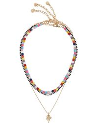 BaubleBar - Alleria Beaded And Gold-plated Necklaces - Lyst