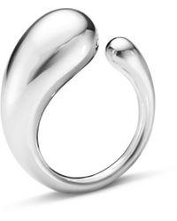 Georg Jensen Mercy Ring Sterling Silver Large - Metallic