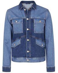 PS by Paul Smith - Tonal Blue Oversized Denim Jacket - Lyst