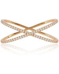 Alinka Jewellery Katia Duo Crossover Two-finger Ring Yellow Gold - Metallic