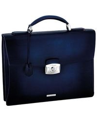S.t. Dupont - One Gusset Briefcase Leather - Lyst