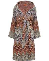 Missoni Yari Zigzag Cotton-terry Robe - Multicolour
