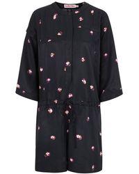 See By Chloé Ƒâ Floral Twill Playsuit - Black
