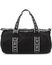 Givenchy Black Logo Nylon Holdall