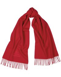 Vivienne Westwood Red Logo-embroidered Wool Scarf