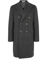 Boglioli - Charcoal Double-breasted Wool Coat - Lyst