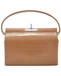 GU_DE Milky Brown Leather Top Handle Bag