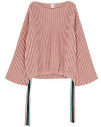 Pinko - Barkeria Blush Wool-blend Jumper - Lyst