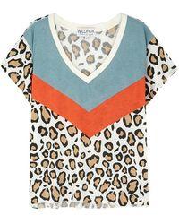 Wildfox - Hellcat Leopard-print Cotton-blend T-shirt - Lyst