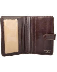 Maxwell Scott Bags - High Quality Brown Full Grain Leather Travel Wallet - Lyst
