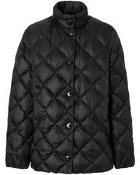 Burberry - Diamond Quilted Down-filled Jacket - Lyst