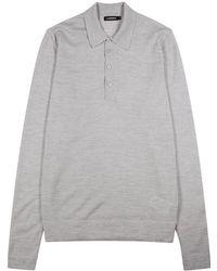 J.Lindeberg - Newman Merino Wool Polo Shirt - Lyst