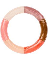 KYOTO TANGO Love Together Beaded Resin Bracelet - Pink