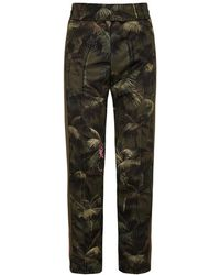 Palm Angels Jungle-print Jersey Joggers - Green