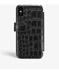 The Case Factory Iphone Xr Card Case Crocodile Black