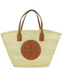 Tory Burch Ella Woven Straw Basket Bag - Natural