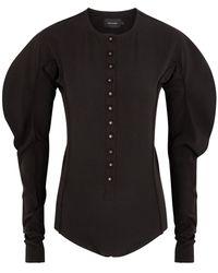 Low Classic Black Stretch-jersey Bodysuit
