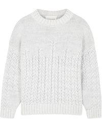Viktoria & Woods Rhapsody Gray Knitted Cotton Sweater