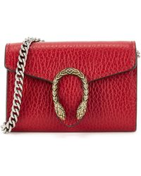 Gucci Dionysus Red Leather Card Holder