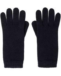 Johnstons Womens Cashmere Gloves - Blue