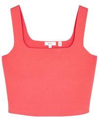 A.L.C. Victoria Pink Cropped Stretch-knit Top