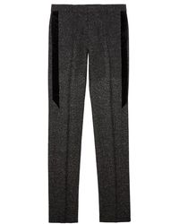 Givenchy - Charcoal Slim-leg Stretch-wool Trousers - Lyst