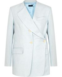 Eudon Choi Oleta Light Blue Wool Blazer
