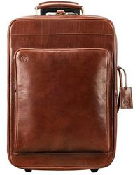 Maxwell Scott Bags Tan Women's Hard Suitcase In Brown