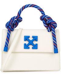Off-White c/o Virgil Abloh Gummy Jitney 1.4 Nubuck Top Handle Bag - White