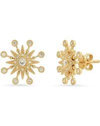 The Alkemistry Colette Yg Star Burst Diam Earrings (pair) - Metallic