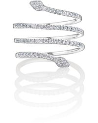 Vara Of London Serpentina Linea Ring In White Gold