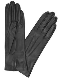 Dents - Black Silk-lined Leather Gloves - Lyst